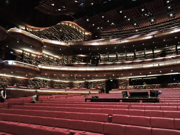 The Dubai Opera auditorium