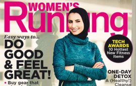 This Hijab-Wearing Marathon Runner Just Made Magazine History