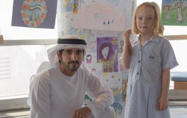 Sheikh Hamdan Discusses Happiness With UAE Schoolgirl