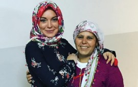 Lindsay Lohan Attributes Her New Accent To Learning Arabic