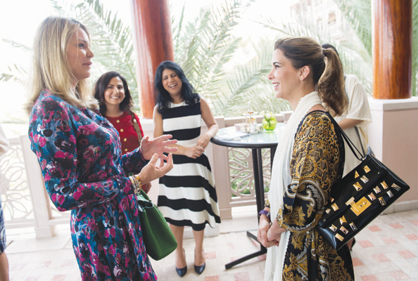 HRH Princess Haya with Emirates Woman's Lyndsey Steven.