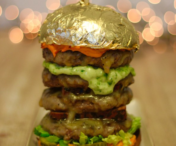 The Roadery gold burger