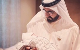 Sheikh Mohammed Meets His Newest Grandson In Gorgeous Family Portrait