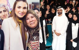 Sheikh Mohammed And Queen Rania Share Inspirational Messages