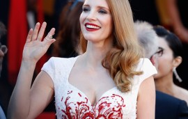 Jessica Chastain Had A Bow-Down Moment In An Arab Gown At Cannes