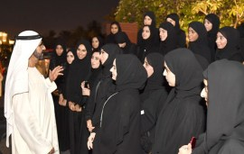 Sheikh Mohammed Hosted An Iftar For Some Of Dubai's Top Students