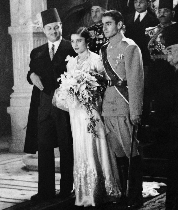 Princess Fawzia Fuad of Egypt and Mohammad Reza Pahlavi‎, Shah of Iran