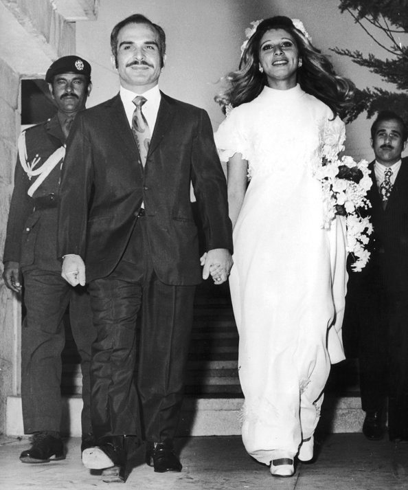 Hussein bin Talal, King of Jordan, and Queen Alia Al-Hussein