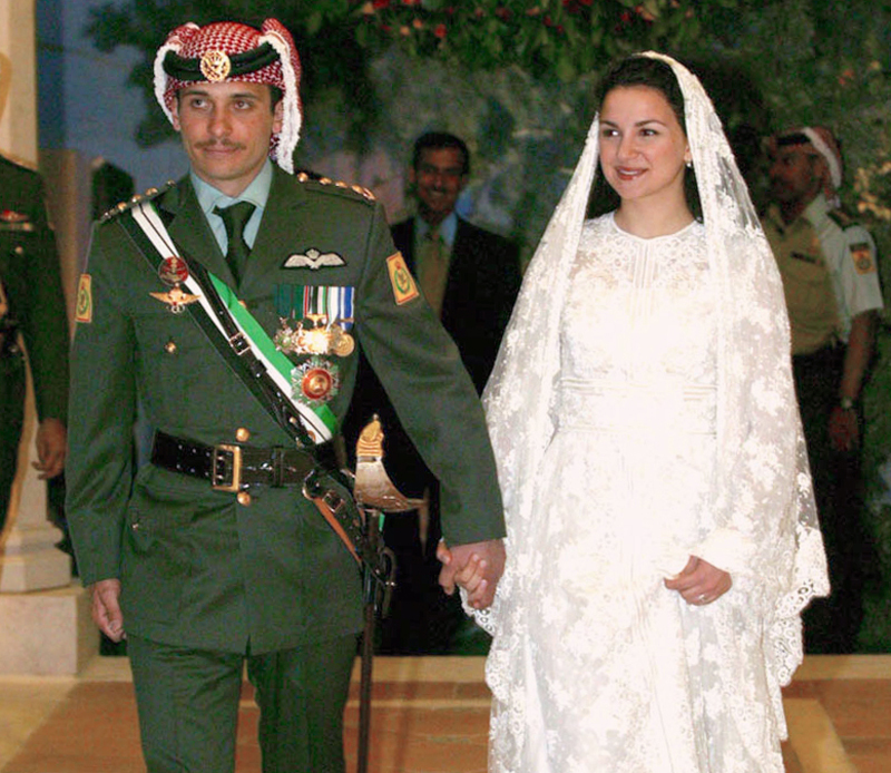 Prince Hamzah bin Hussein of Jordan and Princess Noor