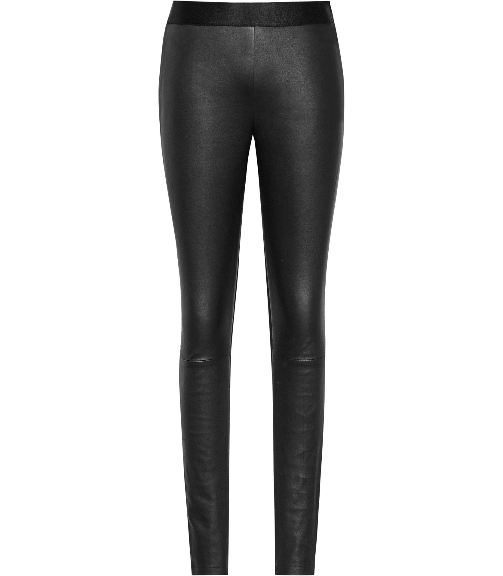 Knole Black Leather Leggings, Dhs1,795.