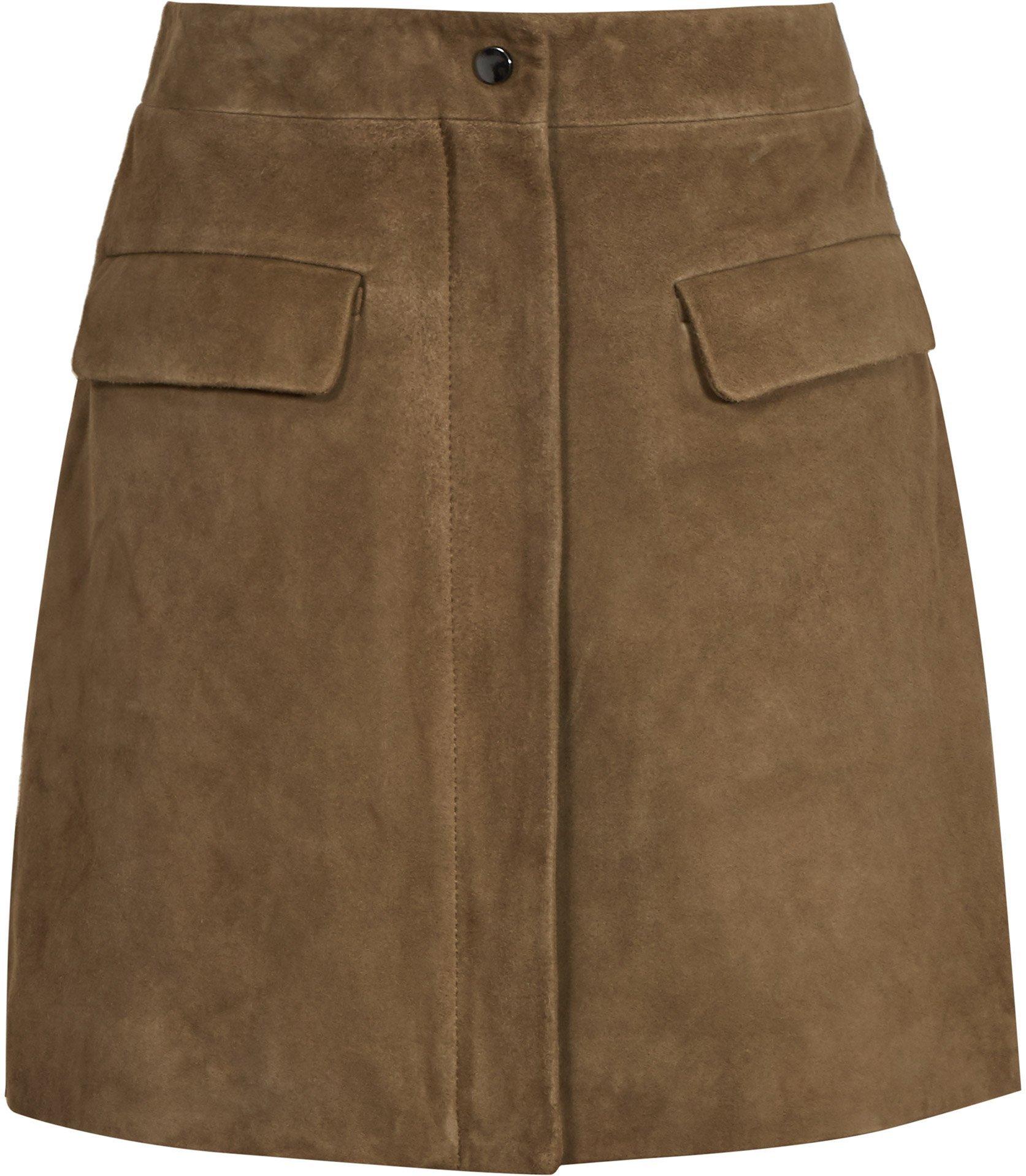 Marina Khaki Suede Skirt, Dhs1,150.