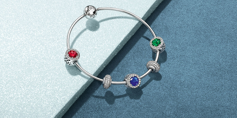 Essence Silver Bangle Dhs275, Essence Balance Charms Dhs225, Essence Optimism, Peace and Passion Charms Dhs325, all Pandora.