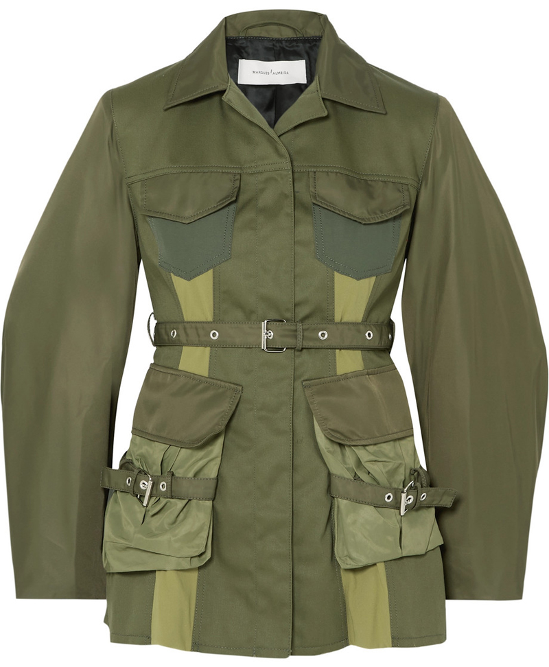MARQUES' ALMEIDA Paneled shell and drill jacket
