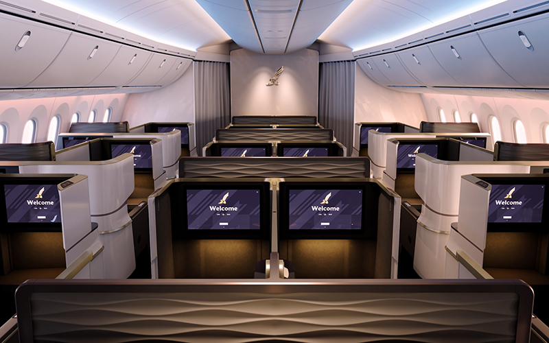 Gulf Air's new Dreamliner business class