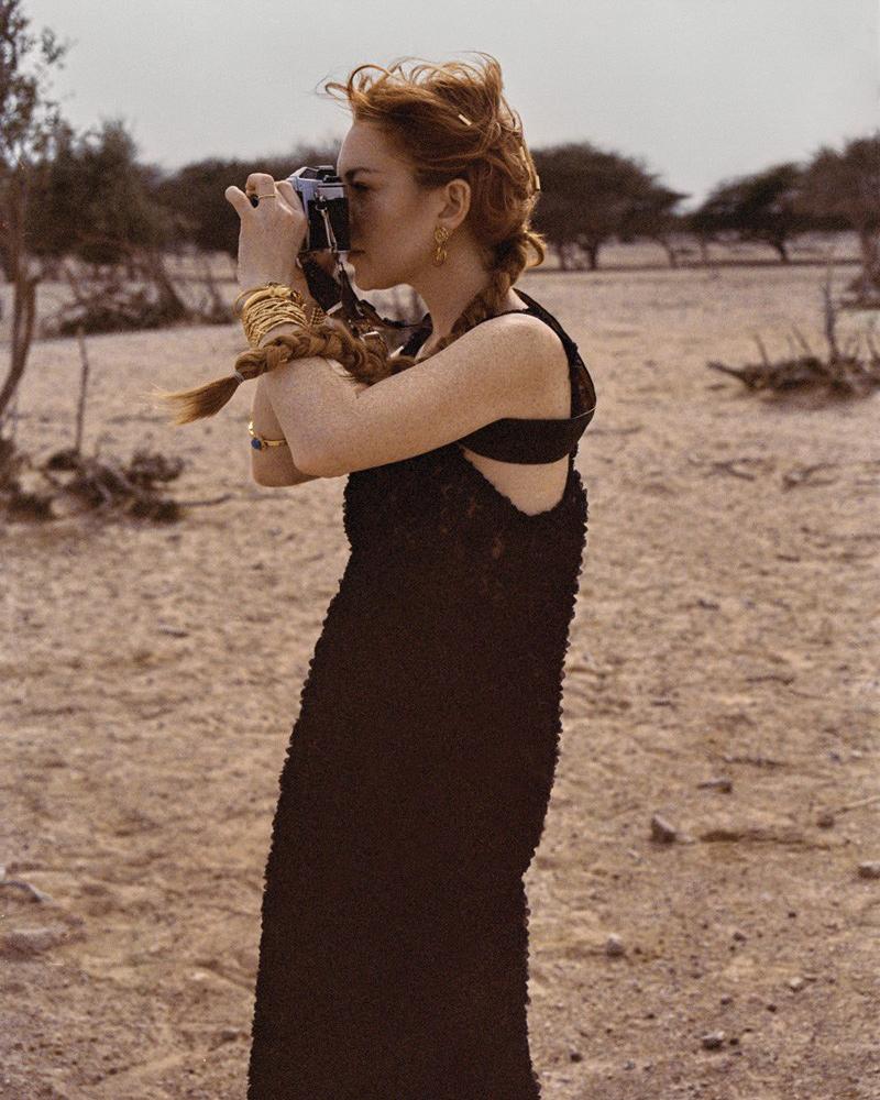 lindsay lohan new music emirates woman cover star magazine dubai uae