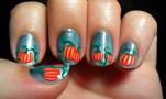 Julep Pumpkin Patch Nail Art
