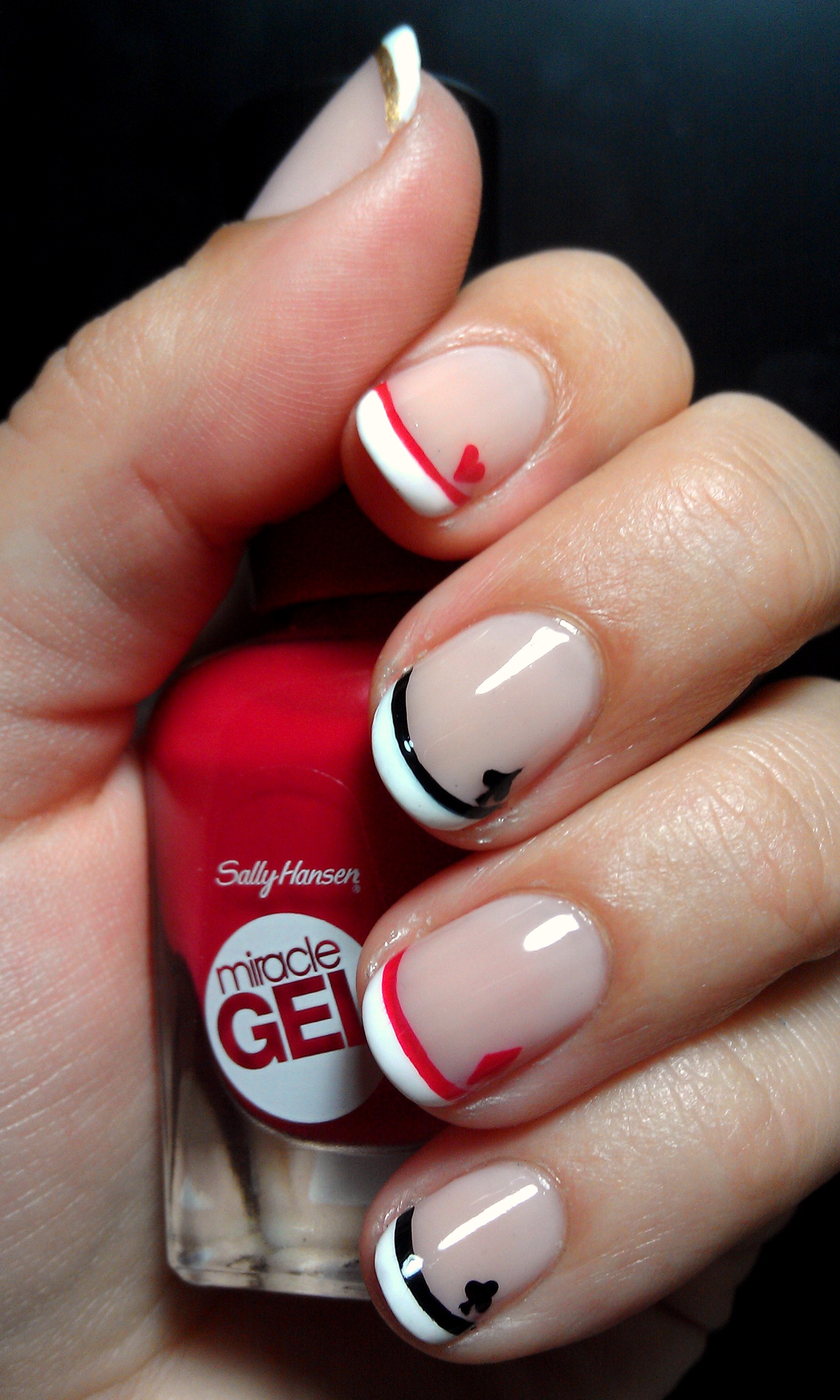 Disney Queen Of Hearts French Manicure – Emi's Manis