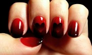 dark red reverse gradient hearts