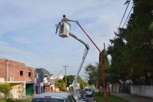 Optimización del alumbrado público: Municipio instaló 115 luminarias Led