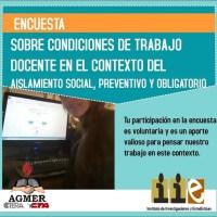 Agmer encuesta a docentes por la condiciones de trabajo en cuarentena