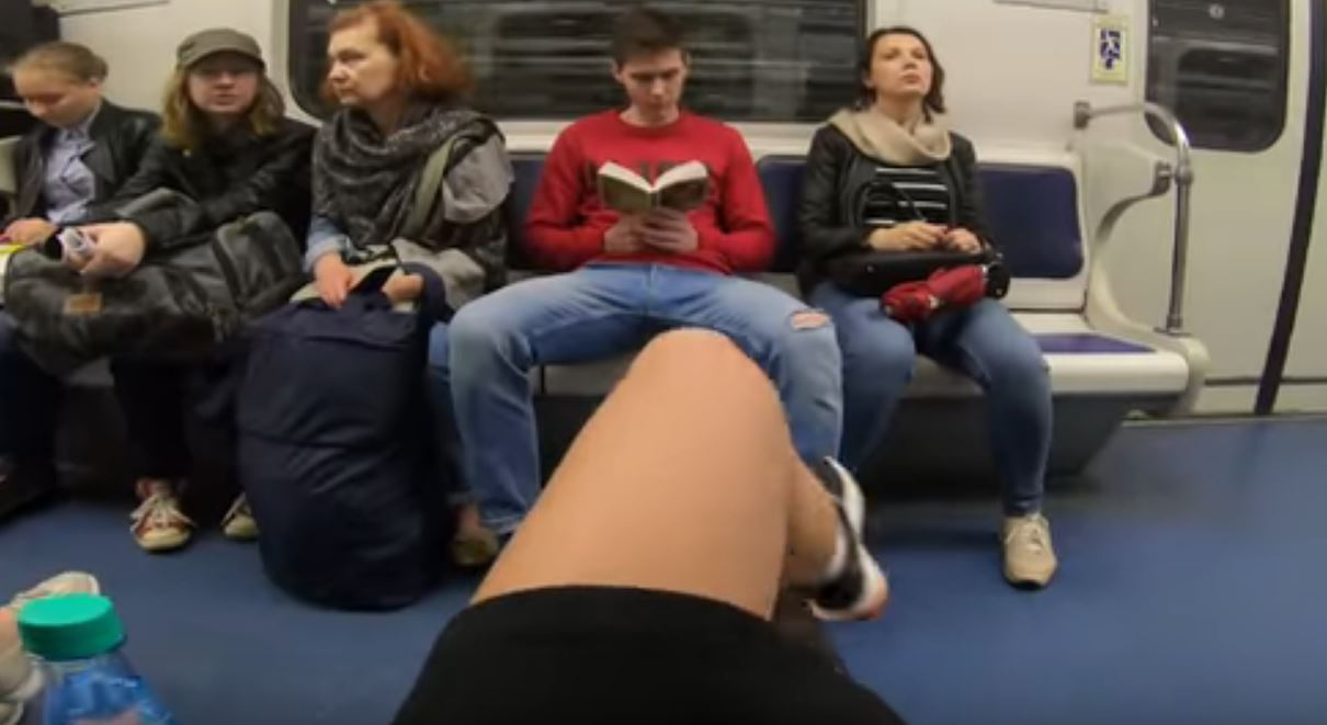 video viral metro rusia