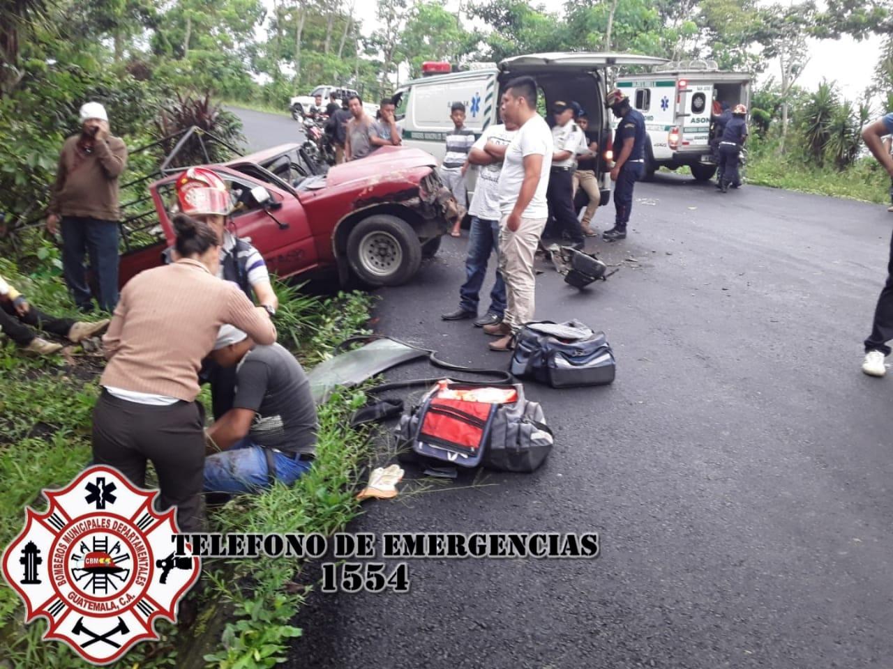 Accidente en El Tumbador, San Marcos.