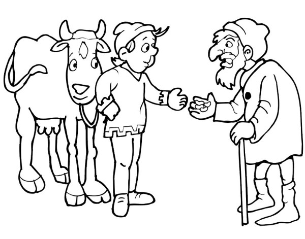 jack and the beanstalk coloring pages # 8