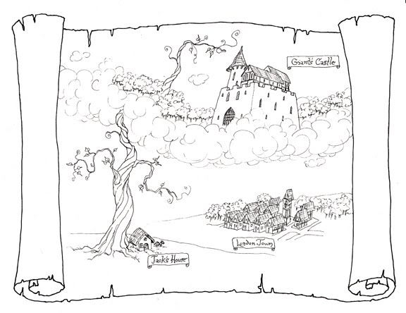 Jack And The Beanstalk Story Map Sketch Coloring Page