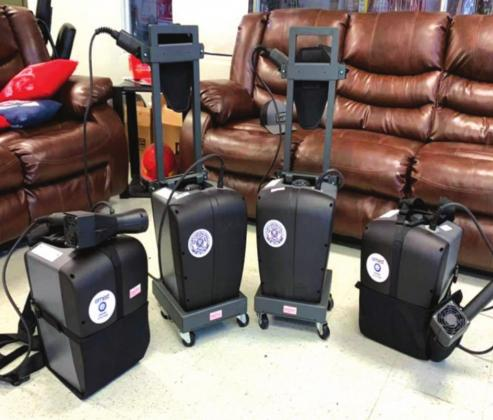 Drumright gets four electrostatic disinfectant sprayers through CARES Act reimbursement grant