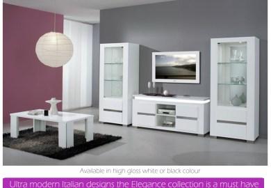 Modern White High Gloss Bedroom Furniture