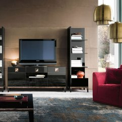 Black High Gloss Living Room Furniture Red Decorations For Rooms Savina Dining Em Italia Sideboard