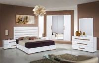 White Gloss Bedroom | High Gloss Bedroom Furniture Set ...