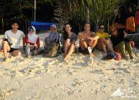Indo vs bule na plaży