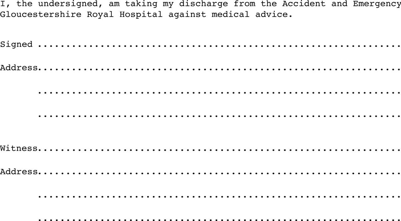 Patient Discharge Form