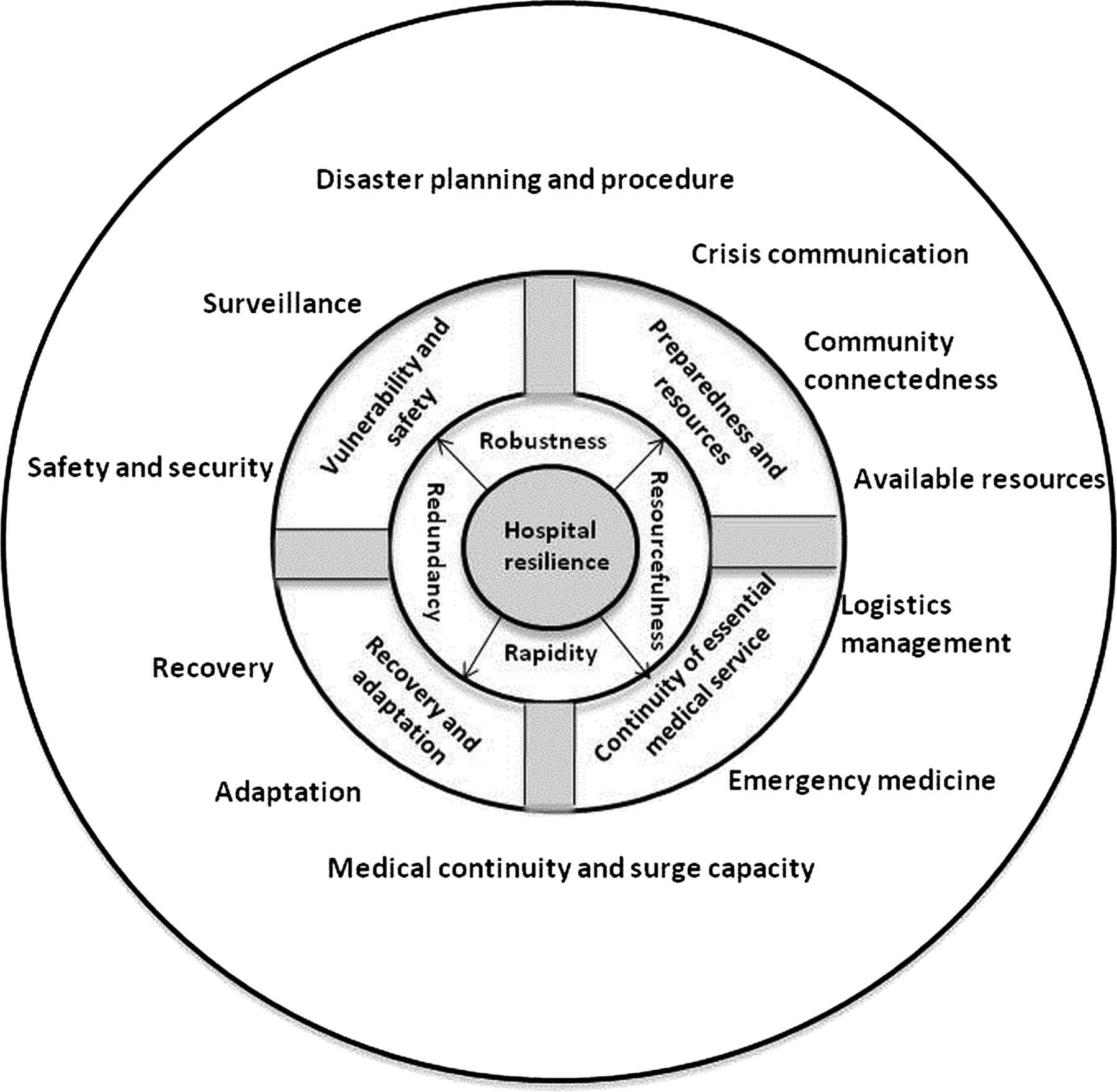 Development of hospital disaster resilience: conceptual