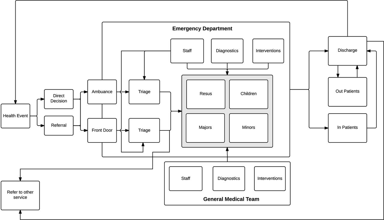 What do emergency physicians in charge do? A qualitative