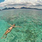 Floating at Entalula Island El Nido Palawan Island Hopping
