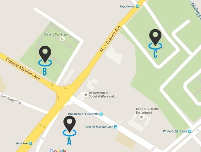 Map Tag CemenTOURyo Cebu Cemeteries Tour