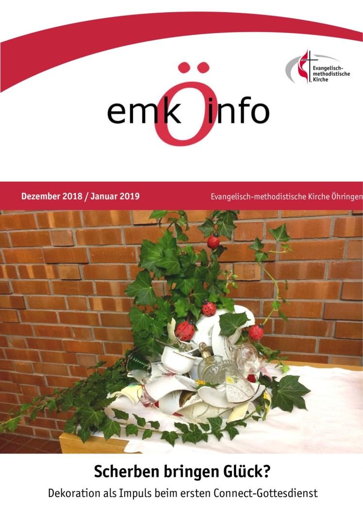 Gemeindebrief 2018 12 + 2019-0111 Öhringen Titelseite