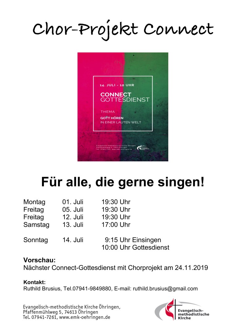 Chor-Projekt Connect 2019-07