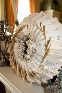 Folded paper wreath