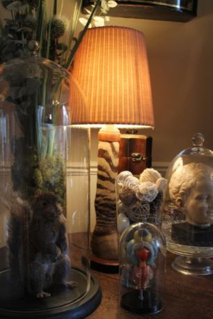 Taxidermy antique lamp base