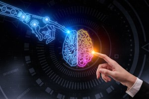Artificial intelligence and future concept visual