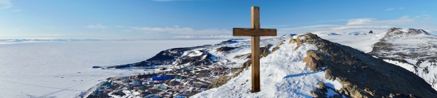Cross at the peak of Observation Hill.