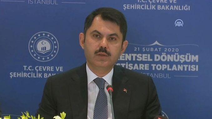 Bakan Murat Kurum Dugmeye Basti