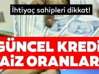 Halkbank Ziraat Bankasi ve Vakifbank ihtiyac tasit konut kredisi faiz oranlari