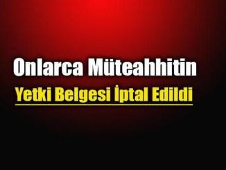 Muteahhitlik yetki belgesi