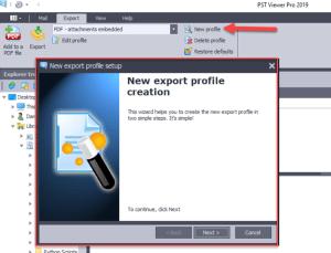 .eml Email export profiles.