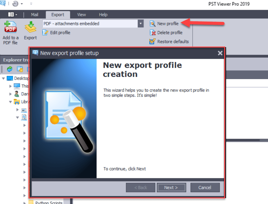 .eml Email export profiles.