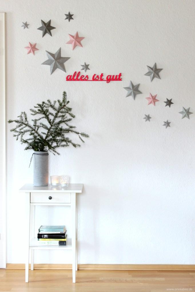 Weihnachts-DIY: Einfache 3D-Sterne mit viel Wirkung {mit Falt-Vorlage}
